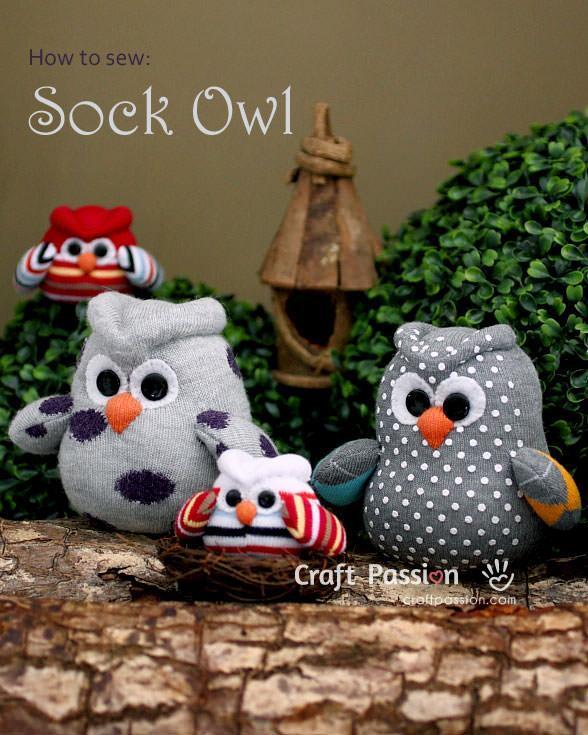 40 Insanely Adorable DIY Sock Toys ListInspired Cool Sock Animal Patterns
