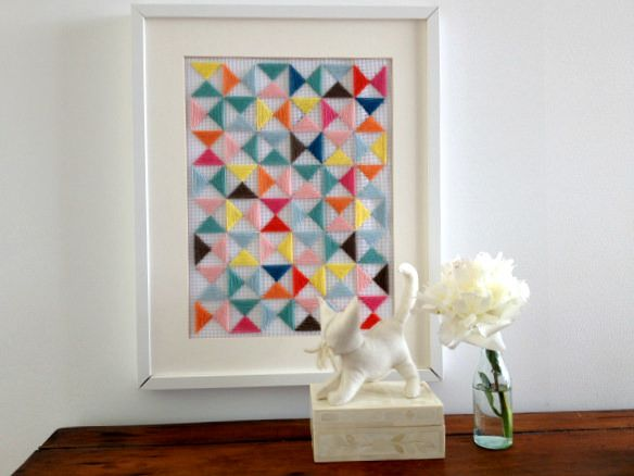 Geometric Embroidery Art
