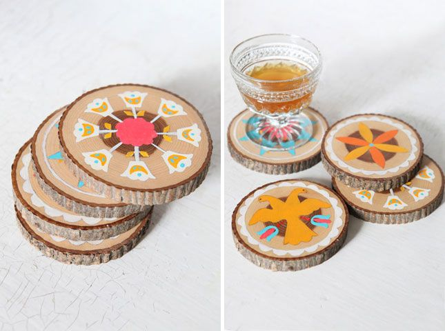 Paint-By-Number Hex Symbol Coasters