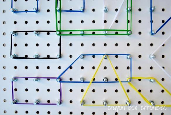 Geoboard with Fabric Loops
