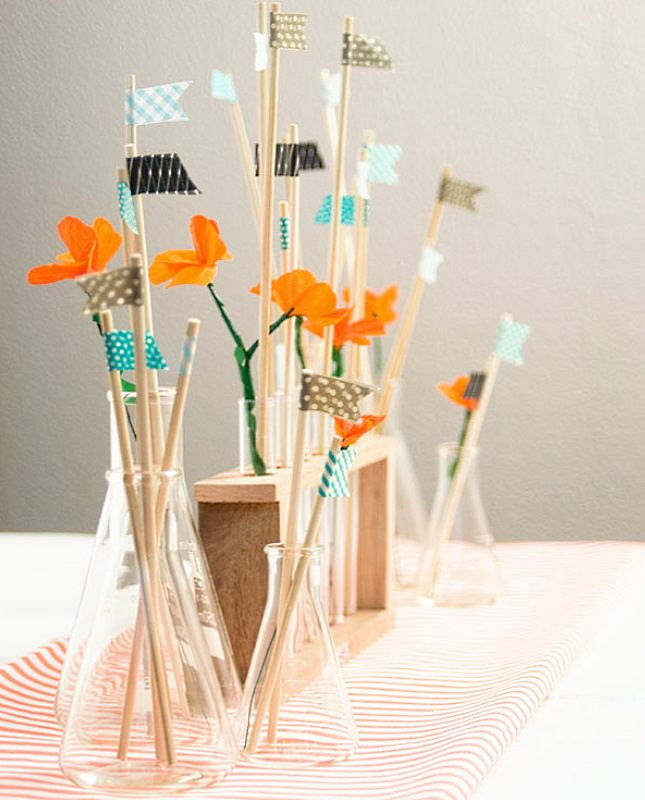 Test Tube & Beaker Centerpiece