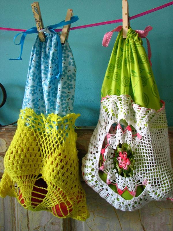 Doily Tote Bags