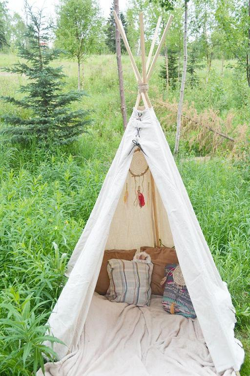 Easy No Sew Teepee