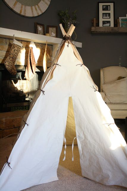 Wooden Poles Teepee