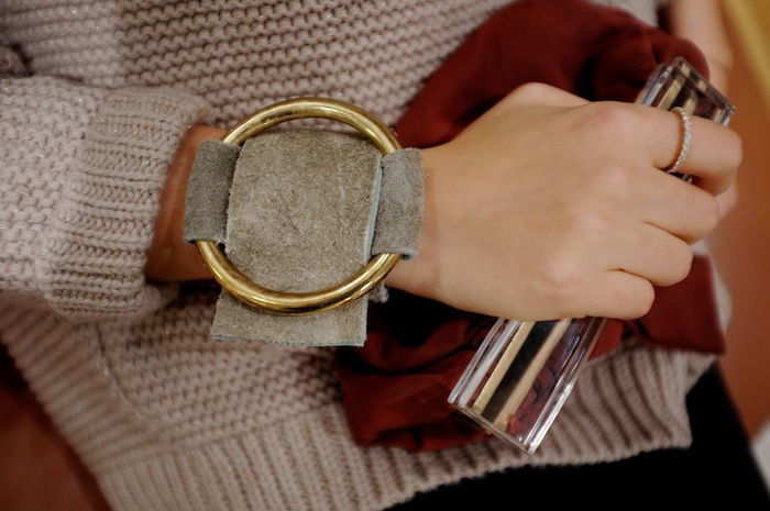 Suede and Brass Cuff
