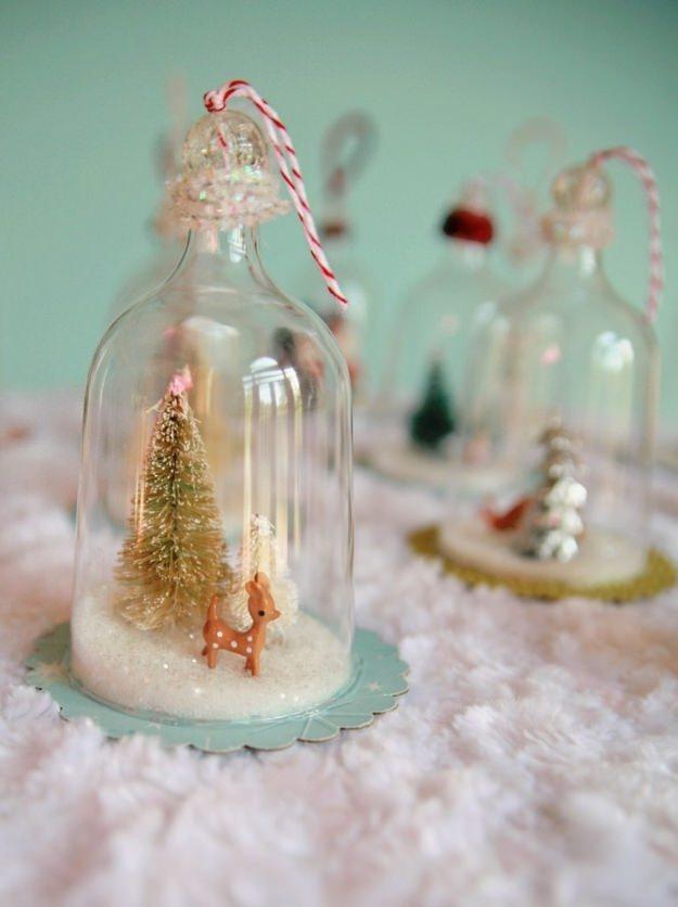 Vintage Inspired Bell Jar Ornaments