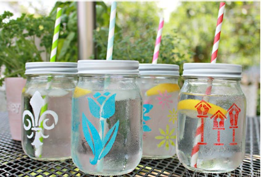 Stenciled Tumblers