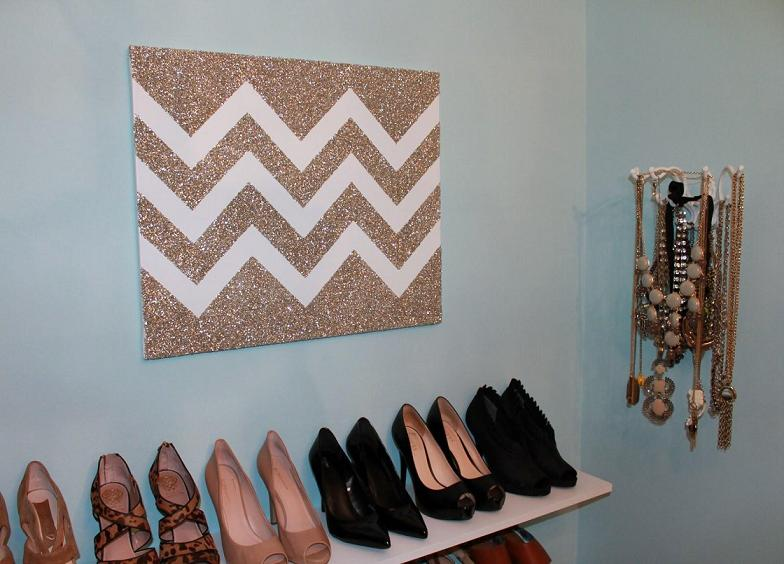 Glitter Chevron Art