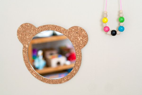 Cork Bear Mirror