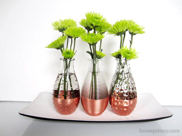 Copper Dipped Vase
