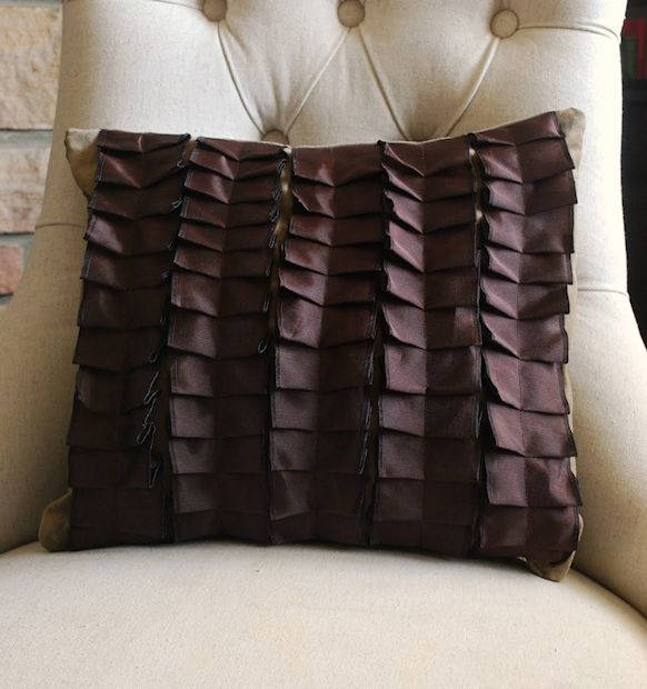 Pretty Pleated Pillow