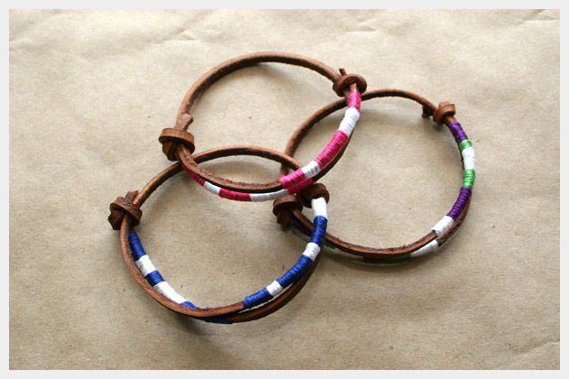 2 Leather Friendship Bracelet