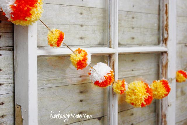 Candy Corn Yarn Balls