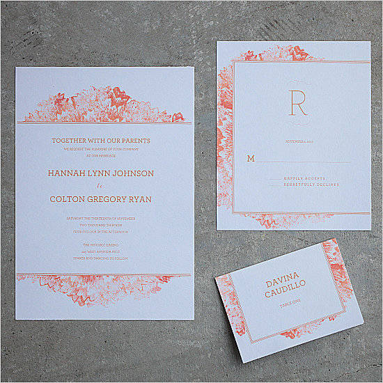 50 absolutely stunning wedding invitation templates all for you 1 petunia watercolor wedding invitation pronofoot35fo Gallery
