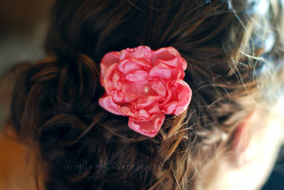 Fabric Flower Hair Accessory