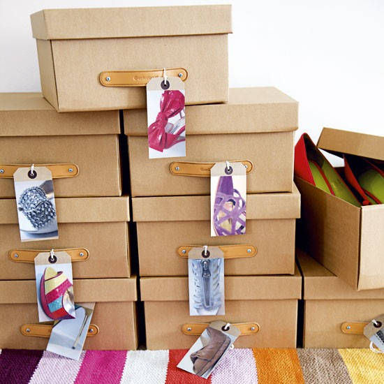 Organize with Photos on Shoe Boxes