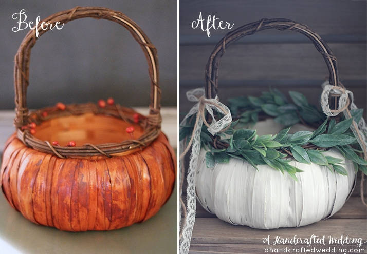 35 easy cheap diy wedding decoration project ideas on a budget pumpkin flower girl basket junglespirit Gallery