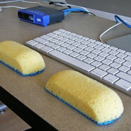 Sponges can be ergonomic keyboard things