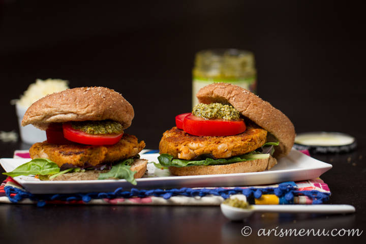 Sun-dried Tomato & Basil White Bean Burger