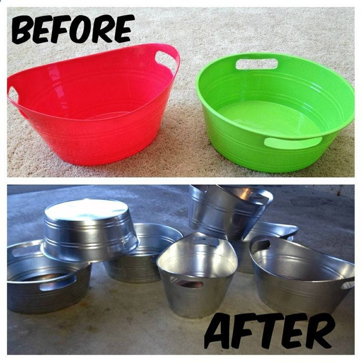 Creative Spray Paint Ideas Part - 35: 31 Upgrade Your Plastic Bins
