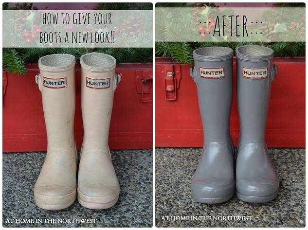 Spray Paint Your Rubber Boots
