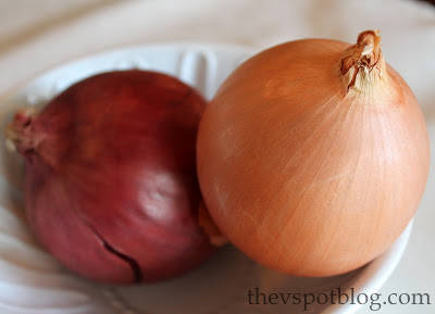 Avoid storing onions with potatoes