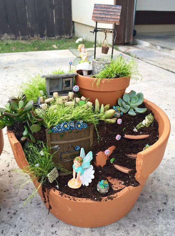 21 Broken Pots Turned into Brilliant Fairy Garden DIY Ideas – Page 3 ...