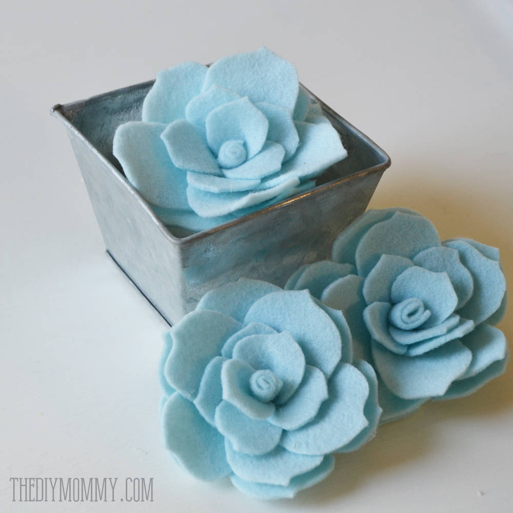 50 beautiful diy felt flower craft ideas you can easily make 1 faux succulents baditri Gallery