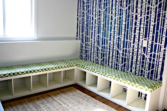Playroom Seating and Storage