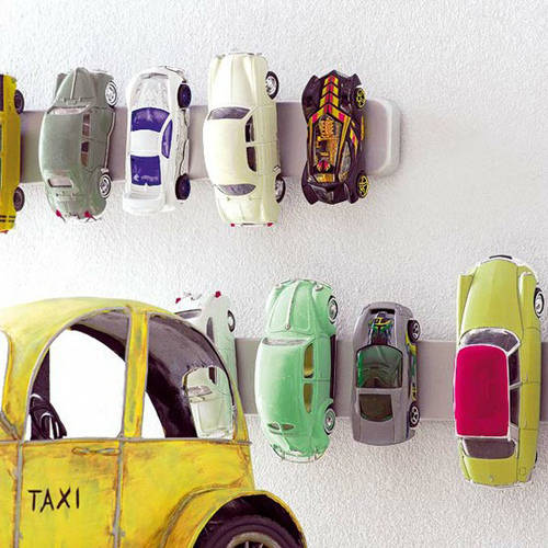 Magnetic Strips Toy Car Holders