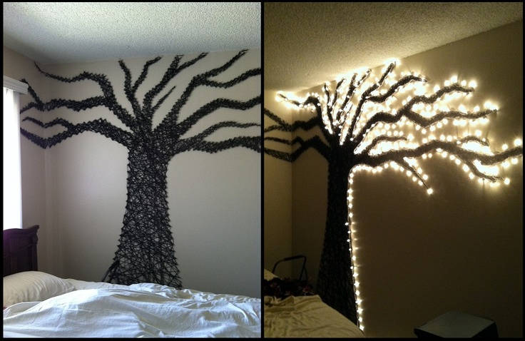 42 Tree Wall Art with Lights & 50 Creative DIY String Art Project Ideas u2013 Page 9 u2013 ListInspired.com