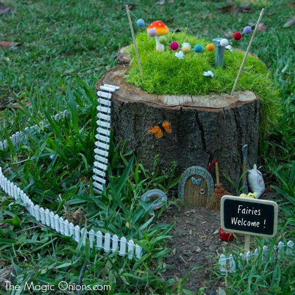 Fairy Garden in a Stump