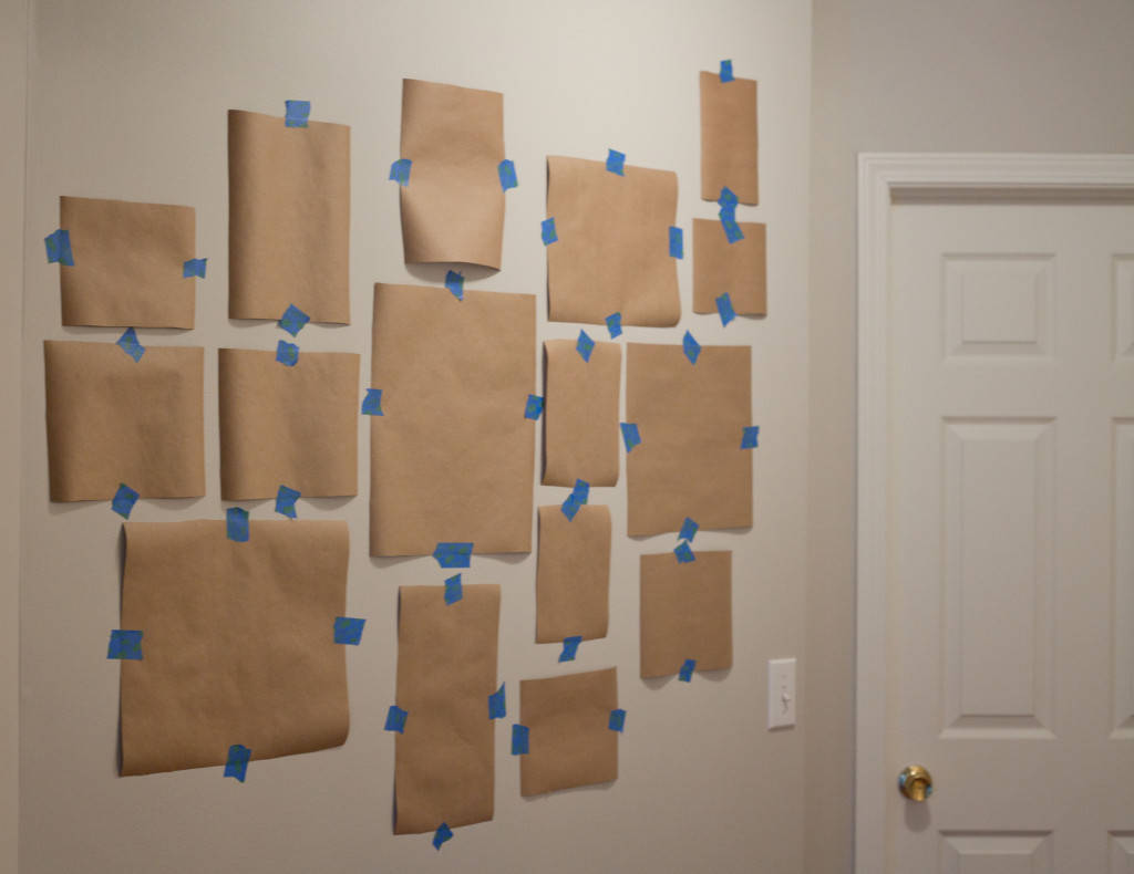 Use contact paper to mock up walls of frames