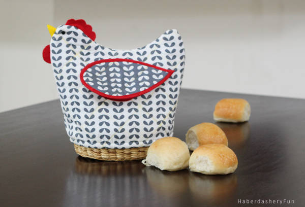 Quilted Bread Basket Cover