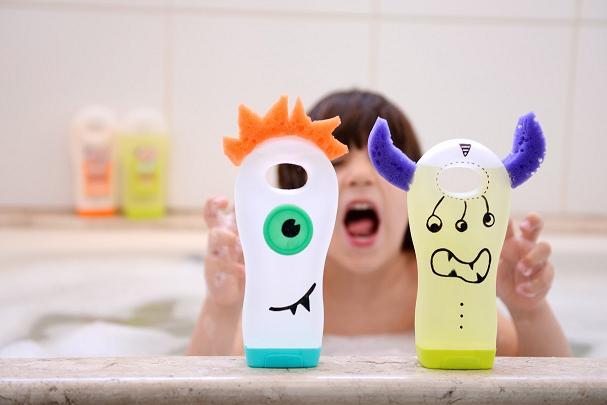 Monstrinhos embalagem de shampoo