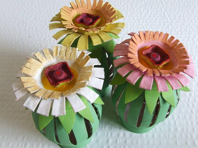 Toilet Paper Roll Egg Carton Flowers