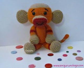 Amigurumi sock monkey | Free crochet pattern | lilleliis | 259x320