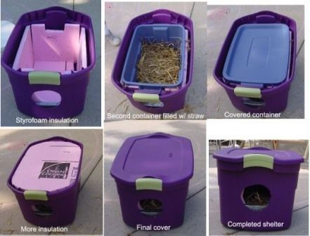 This is a great way to keep outside cats safe and warm in the winter