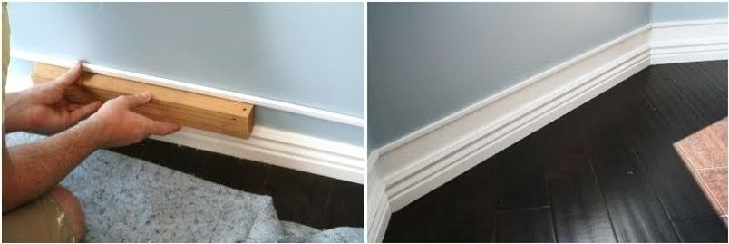 Get faux thick baseboards