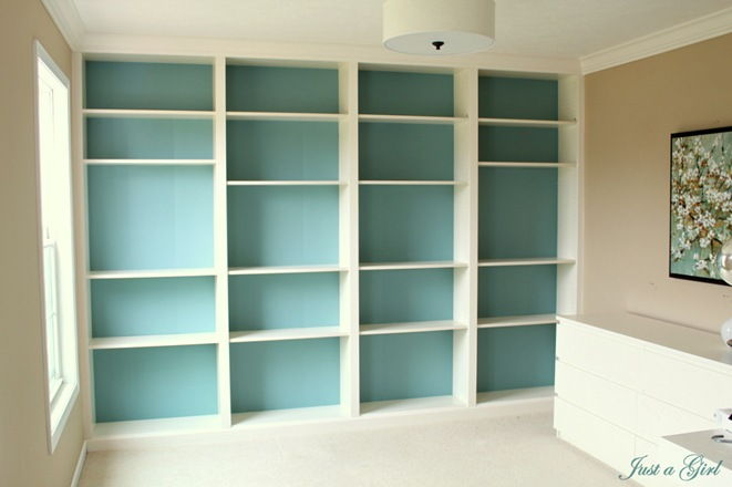 Add a built-in Bookcases