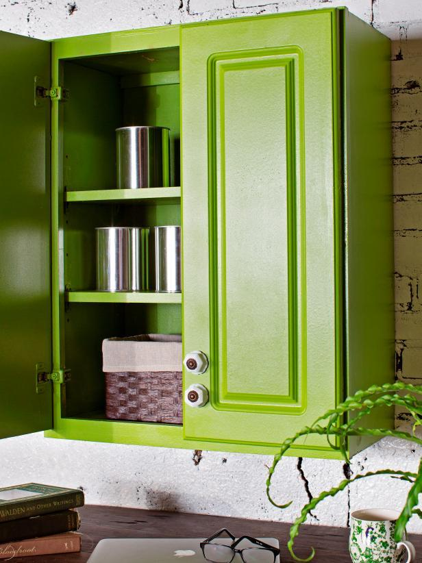 Paint Kitchen Cabinets With a Sprayed-On Finish