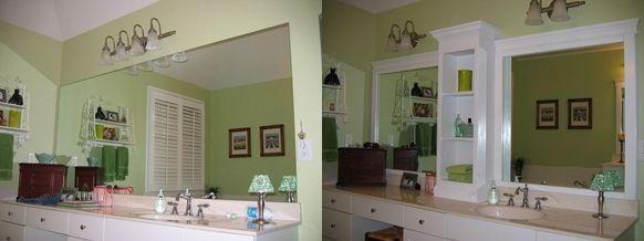 Revamp Your Large Bathroom Mirror