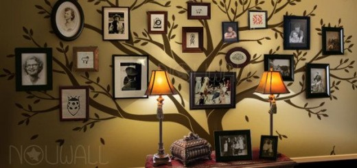 Family Tree Wall Decoration at Home and Interior Design Ideas
