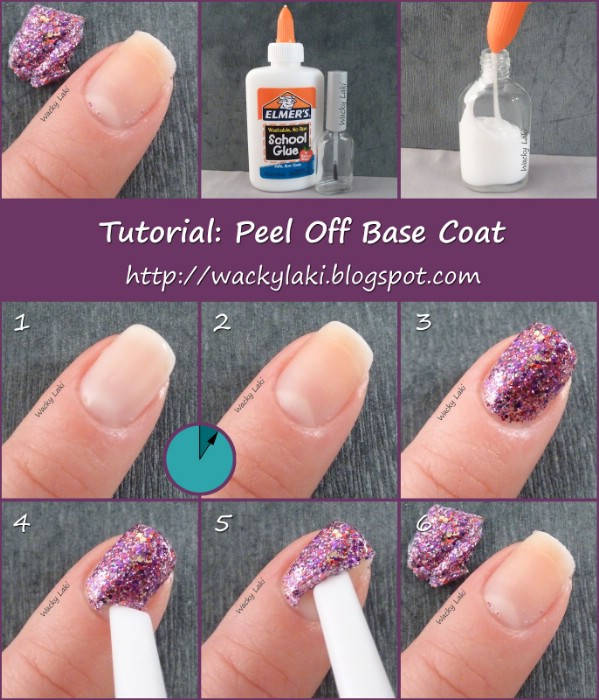 Easy Glitter Nail Polish Removal