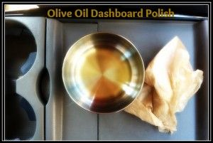 Dashboard polish with olive oil