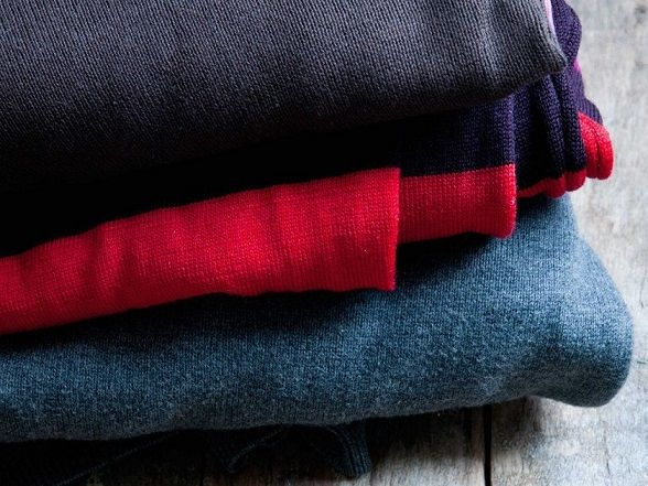 Fold your sweaters instead of hanging them