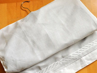 Create A Garment Bag Out Of Pillowcases