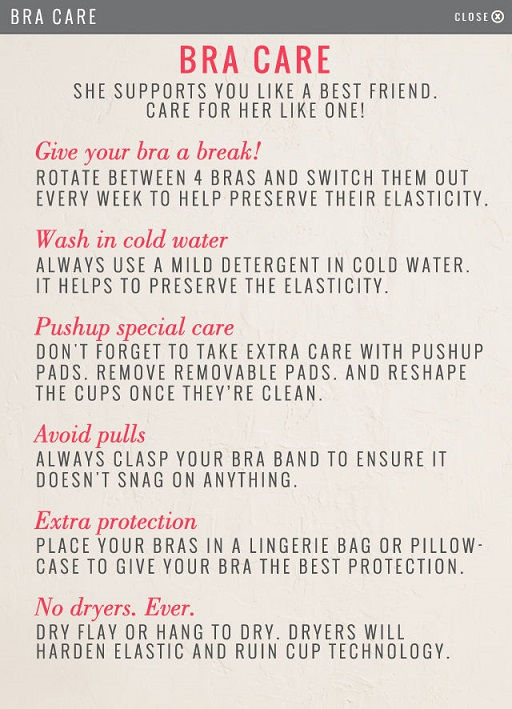 Know how to care for your bra