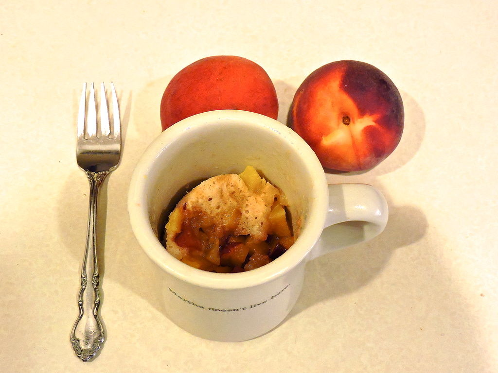 6 Minute Peach Cobbler