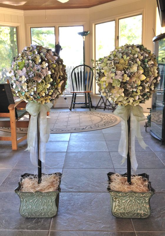 Topiary Decorating Ideas Part - 47: 39 Paper Flower Topiary